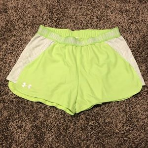 Under Armour Neon Athletic Shorts w/ Pockets!!